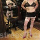 Dominatrix Mistress Troy's sissy slut shows off her outfit in New York City
