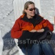Mistress Troy relaxes at the snow beach, Utah, U.S.A.