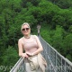 Mistress Troy during Villa Domme outing to suspension footbridge, Italy
