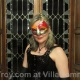 Mistress Troy at masquerade dinner, Villa Domme, Italy